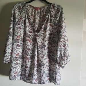 Sheer Top Blouse Rose & Thyme Size Large